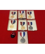Vintage 1960 South Florida AAU Swimming Medals Lot of 7 - $35.00