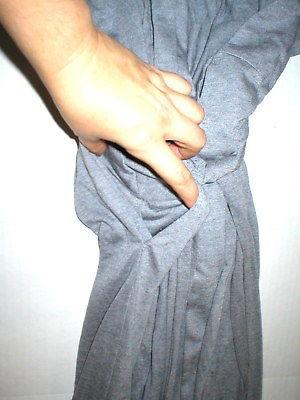NWT $180 New Natori Gray Robe Womens Long Very Soft Solid XXL Pockets Heathered image 4