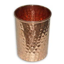 Pure Copper Drinkware Hammered Tumbler Water Glass Tableware Drinking Ac... - $10.39
