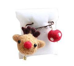 Cute Cartoon Animal Wool Felt Brooch Pin Clothing Accessories, Deer