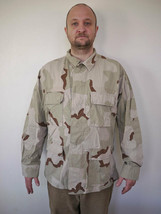 US Military AIR FORCE Marines Desert Camo Ripstop Combat Jacket Coat Large-Reg - $19.99