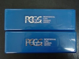 TWO USED PCGS BLUE CERTIFIED SLAB STORAGE BOXES NO TAPE, WRITING, LABEL image 1
