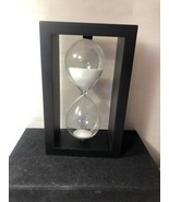 Wooden Sand Hourglass Timer Vintage Square Tabletop/Desk Decor Item Time... - $23.38
