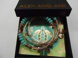Alex and Ani Go with the Flow, Set of 5 Bracelet Shiny Rose NWTBC - $108.89