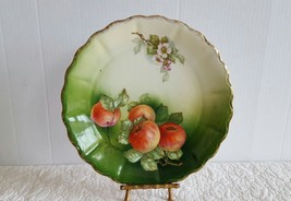 Antique 1798 Hand Painted Porcelain Bavarian Plate Made In Germany Apple... - $19.99