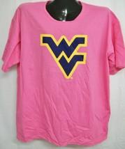 West Virginia Mountaineers Pink Scoop Neck Tee Shirt Medium - $13.99