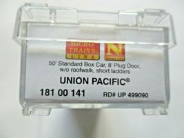 Micro-Trains # 18100141 Union Pacific 50' Standard Boxcar Plug Doors N-Scale image 5