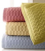 Sferra BRADLEY Quilted Standard Pillow Sham Butter Cotton Oval Stitch De... - $731,03 MXN