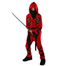 Fire Dragon Red Ninja Costume Child Boys Toddler 3-4 3T 4T - £23.90 GBP