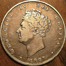 1827 GREAT BRITAIN GEORGE IV SILVER SHILLING COIN - $67.05