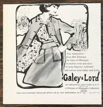 1964 Galey & Lord NYC Ad The Weekenders from Bill Atkinson for Glen of M... - $7.15