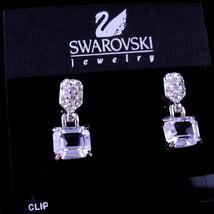 Vintage Brilliant Swarovski earrings -CZ Earrings Clip on Rhinestones - ... - $145.00
