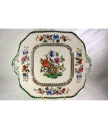 "Spode Chinese Rose 11 1/2"" Square Handled Cake Plate 2/9253 - $50.39"