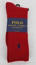 Polo Ralph Lauren Men's Classic Crew Cotton Socks Red 10-13 - $9.89