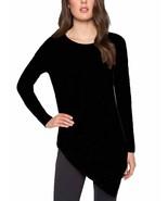 Matty M Women's Pullover Crew Neck Asymmetrical Sweater Black Sz S M L XL - $13.31