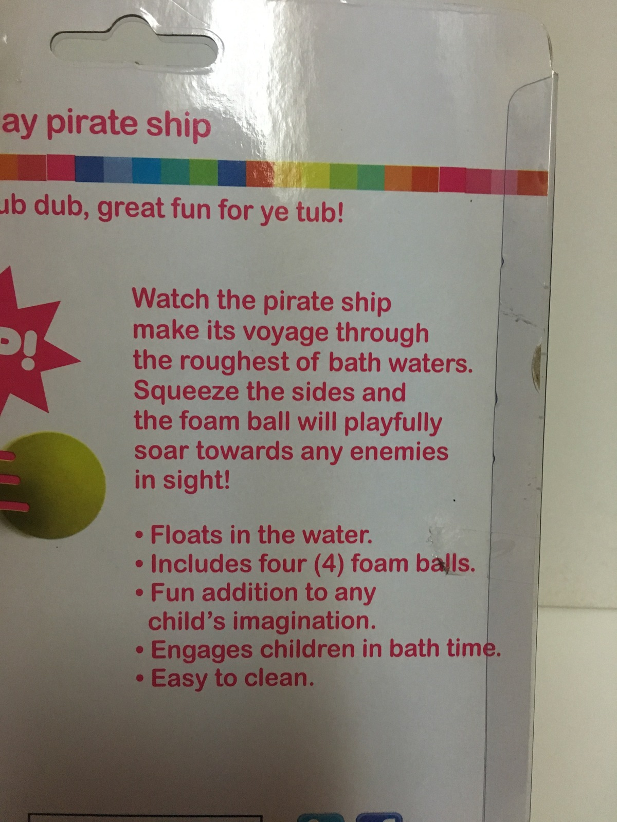 Garanimals Pop & Play Kid's Bath Toy Floating Pirate Ship Foam Balls Ages 3+