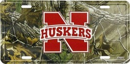 Nebraska Cornhuskers NCAA Camo License Plate - $9.85