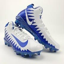 New Nike Alpha Menace Pro Mid White Game Royal Football Cleat 871451 Men... - $42.46