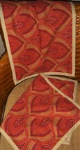 Pottery Barn 2 16x26 Lumbar Pillow Covers Red Tan Rust Medallion Linen Cotton - $44.52