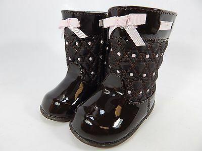 Nwt Baby Deer Gesteppt Kleinkind Mädchen Stiefel Schuhe Größe 2 0-12 Months