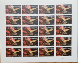 Usps New Mississippi Statehood Stamp Sheet Of 20 Forever, New - $14.95