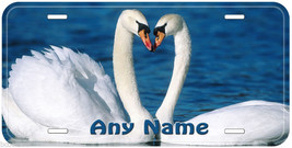 Swan Pair Love Aluminum Any Name Personalized Car Auto Novelty License P... - $14.80