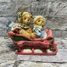 Cherished Teddies 1994 Our 1st Christmas Tree Ornament Bundled Up For Holiday - $9.89