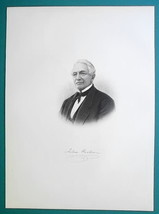 JOHN HARBEIN Maryland Born Farmer 'Alpha' Flour Maker - 1881 Portrait Print - $19.80