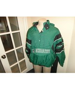 Vtg 90's Green Sewn Starter Michigan State Spartans Puffer Parka NCAA Ad... - $94.04