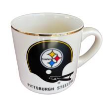 Pittsburg Steelers Coffee Mug Gold Rim Ceramic Vintage Late 80s - $27.49