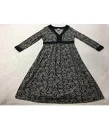 Gap Maternity XS Black Gray Tropical Palm Leaf Floral Dress 3/4 Sleeve S... - $14.99