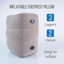 Travel Pillow - Inflatable Foot Rest Pillow with Airplane Travel Accessories image 2