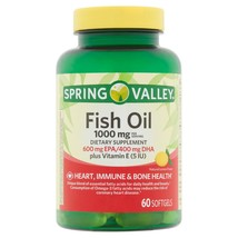 Spring Valley Fish Oil Softgels, 1000 mg, 60 ct. - $15.83