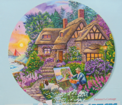 PUZZLE..JIGSAW..CARLSON...Painter's Cottage..300 Piece.. Sealed - $14.99