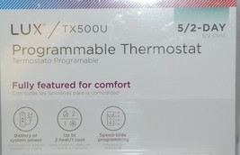 LUX TX500U Programmable Thermostat Fully Featured For Comfort White image 2