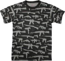 Black Guns & Rifles Tee 2nd Amendment Rights Vintage Short Sleeve T-Shirt - $13.99+