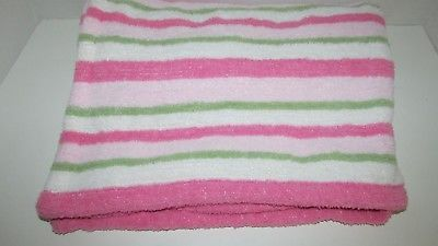 ab4b346df2 1. 1. Previous. Carters Baby Blanket Chenille Pink Green white striped no  flaws soft · Carters Baby Blanket ...
