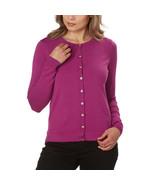 Kirkland Signature Ladies' Cardigan Sweater, Purple, Large - NEW - $29.99