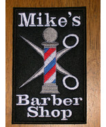 BARBER Pole Scissors Embroidered Design for Jacket or PATCH +Choice of T... - $13.99