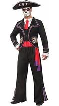 Forum Novelties Men's Day Of Dead Mariachi Macabre Costume, Black, Standard - $43.61