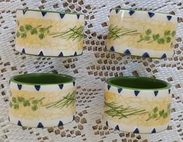 Set of 4 Faith Hope Joy Ceramic Napkin Rings Ho... - $9.99