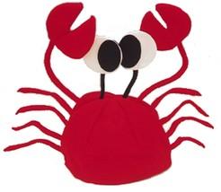 RED CRAB SEA ANIMAL LOBSTER COSTUME HAT ADULT CHILD CAP CRAYFISH FISH NO... - €10,42 EUR