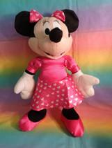 "Disney Kcare Kiu Hung Industries Minnie Mouse Pink Dress Plush Doll 13"" image 1"
