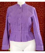 JONES NEW YORK SPORT lavender corduroy fitted jacket M (T39-02I8G) - $21.76