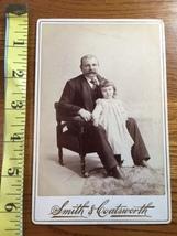 "Cabinet Card ""Proud Grandpa with Granddaughter Nice Studio Artwork 1860-80! - $12.00"