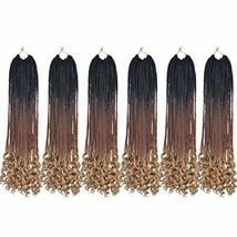 MSCHARM 6Packs 22Strands/Pack Senegalese Twist Crochet Curly Ends Ombre ... - $16.69