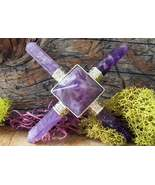 Amethyst 4 Point Energy Generator 3'' inch Crystal Healing Gemstone - $10.79