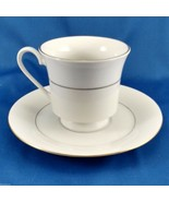 Sakura Classic Gold Tea Cup and Saucer White Porcelain with Gold Trim 1997 - $7.92