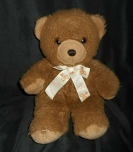 "17"" VINTAGE UNIPAK BROWN BABY TEDDY BEAR W/ BOW STUFFED ANIMAL PLUSH TOY... - $32.55"