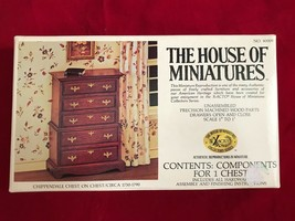 The House of Miniatures No 40009 Chippendale Chest on Chest Kit 1:1 Scale Doll - $12.19